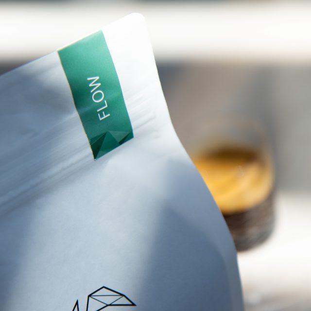 Ikigai Coffee Flow Blend bag and espresso