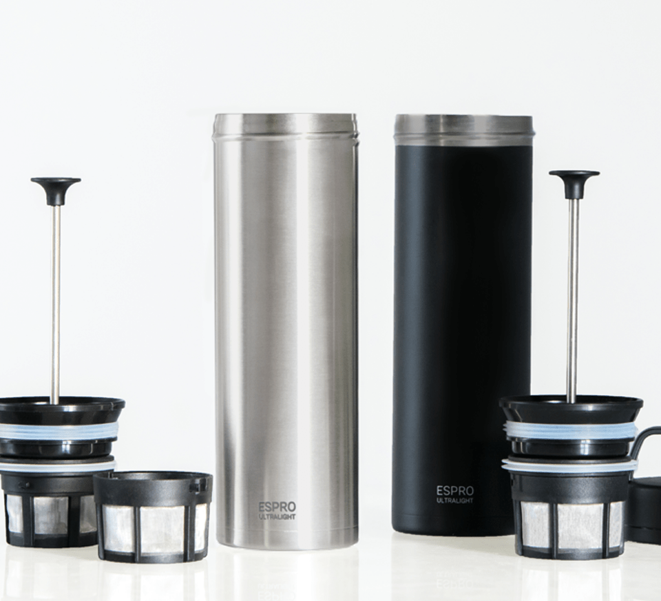 espro ultralight brushed steel and black