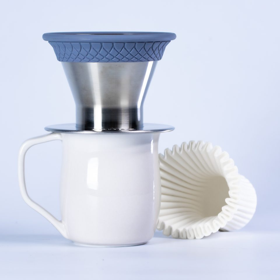 Espro Bloom Pour Over Brewer on Taste Cup with filters