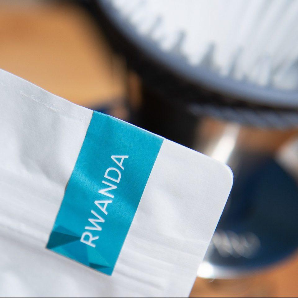 Bag of Ikigai Coffee Rwanda Abakundakawa cooperative with the Espro BLOOM on the background